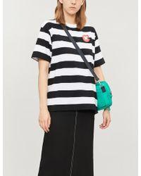 Chocoolate - Dog-print Striped Cotton-jersey T-shirt - Lyst