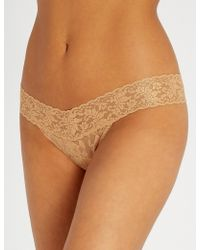 Hanky Panky - Stardust Stretch-lace Thong - Lyst
