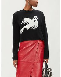 The Kooples - Ghost Cropped Wool-cashmere Blend Jumper - Lyst