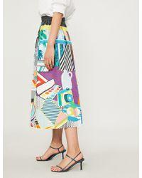 Mary Katrantzou - Bowles Pop Art-print Stretch-cotton Midi Skirt - Lyst