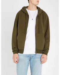 The Kooples - Distressed Relaxed-fit Cotton-jersey Hoody - Lyst