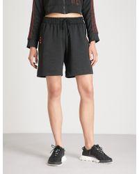 Alexander Wang - Striped Woven Soccer Shorts - Lyst