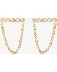 The Alkemistry - Zoë Chicco 14ct Gold Diamond Stud Earrings - Lyst
