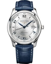 Longines - L27934992 Stainless Steel And Alligator Watch - Lyst
