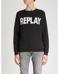 Replay - Logo-print Cotton-jersey Sweatshirt - Lyst