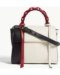 Elena Ghisellini - Angel Panelled Small Leather Shoulder Bag - Lyst
