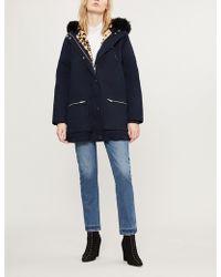 Claudie Pierlot - Faux Fur-trimmed Cotton Parka Coat - Lyst