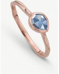 Monica Vinader - Siren Kyanite-gemstone 18ct Rose-gold And Silver Ring - Lyst