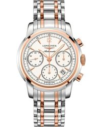 Longines - L27525727 Saint-imier Stainless Steel And Rose Gold-toned Watch - Lyst