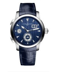 Ulysse Nardin - 3343-126le/93 Classic Dual Time Stainless Steel Watch - Lyst