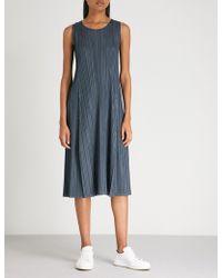 Pleats Please Issey Miyake - Mellow Pleats Pleated Midi Dress - Lyst