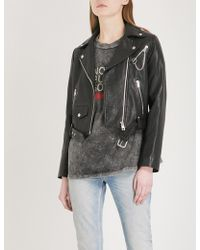 Maje - Bassung Chain-detail Leather Jacket - Lyst