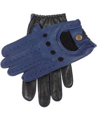 Dents - Waverley Two-tone Leather Driving Gloves - Lyst