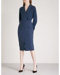 Max Mara - Harold Wool-blend Wrap Dress - Lyst