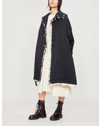 Comme des Garçons - Raw-trim Padded Cotton Coat - Lyst