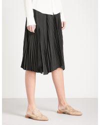 Vince - Pleated Silk-blend Skirt - Lyst