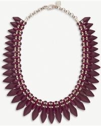 Kendra Scott - Lazarus 14ct Rose Gold-plated And Acrylic Necklace - Lyst