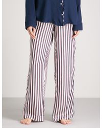 Tommy Hilfiger - Striped Woven Pyjama Trousers - Lyst