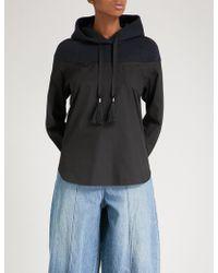 Sacai - Deconstructed Cotton-jersey Hoody Shirt - Lyst