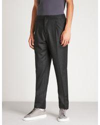 Ferragamo - Regular-fit Straight Wool Trousers - Lyst