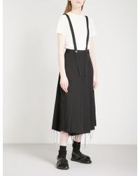 Song For The Mute | Pleated Woven Skort Trousers | Lyst