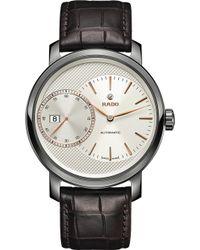 Rado - R14129116 Diamaster Automatic Grande Seconde Ceramic And Leather Watch - Lyst