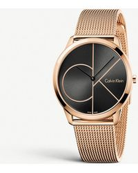 CALVIN KLEIN 205W39NYC - K3m21621 Minimal Pvd Rose Gold-plated Watch - Lyst