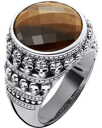 Thomas Sabo - Rebel At Heart Tiger's Eye Sterling Silver Ring - Lyst