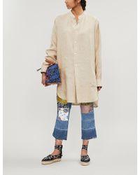 Loewe Long-sleeved Oversized Linen Shirt