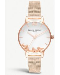 Olivia Burton - Ob16ch01 Busy Bees Rose Gold-plated Watch - Lyst