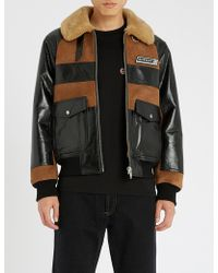 Givenchy - Shearling-trimmed Leather Jacket - Lyst