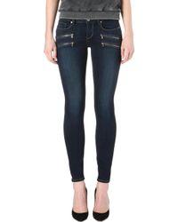 PAIGE - Edgemont Skinny Mid-rise Jeans - Lyst