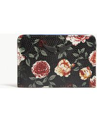 Zadig & Voltaire - Oral-print Textured Leather Card Holder - Lyst