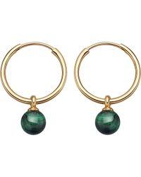 Astley Clarke - Vera Yellow-gold Vermeil & Malachite Drop Hoop Earrings - Lyst