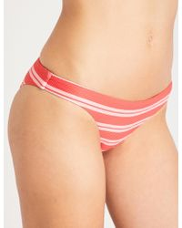 Asceno - Striped Low-rise Bikini Bottoms - Lyst