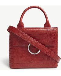 Claudie Pierlot - Anouk Small Leather Croc-effect Shoulder Bag - Lyst