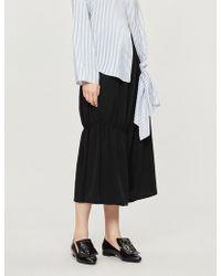 Y's Yohji Yamamoto - Relaxed-fit Gathered-leg Shell Shorts - Lyst