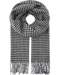 Sandro - Houndstooth Printed Wool Scarf - Lyst