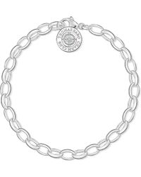 Thomas Sabo - Charm Club Sterling Silver And Diamond Bracelet - Lyst