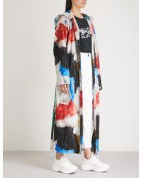Vionnet - X Marc Quinn Printed Cotton-towelling Coat - Lyst