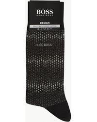 BOSS - Spotted Print Cotton-blend Socks - Lyst