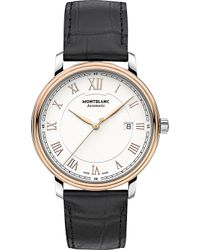 Montblanc - 114336 Tradition Red Gold-plated Stainless Steel And Leather Watch - Lyst