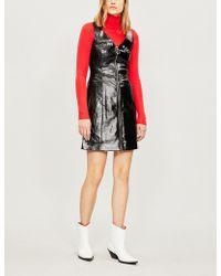 Kitri - Leigh Patent Mini Dress - Lyst