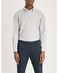 Polo Ralph Lauren - Logo-embroidered Slim-fit Cotton Shirt - Lyst