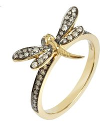 Annoushka - Love Diamonds 18ct Yellow-gold Dragonfly Ring - Lyst