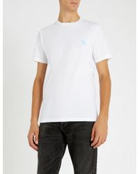 Paul Smith - Embroidered Cotton-jersey T-shirt - Lyst