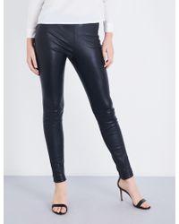 Maje - Smarto High-rise Stretch-leather leggings - Lyst