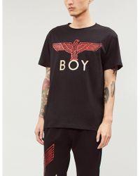 cc7a3e82a19b BOY London - Glittered Logo-print Cotton-jersey T-shirt - Lyst