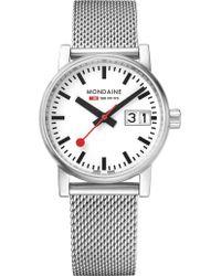 Mondaine - Mse-30210-sm Evo2 Stainless Steel Watch - Lyst