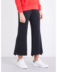 Sundry - Flared Cotton-blend Jogging Bottoms - Lyst